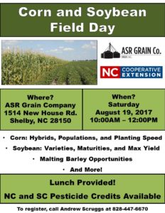 Cover photo for 2017 Southwest Piedmont Corn and Soybean Field Day