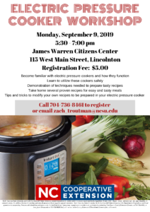 Cover photo for Electric Pressure Cooker Workshop