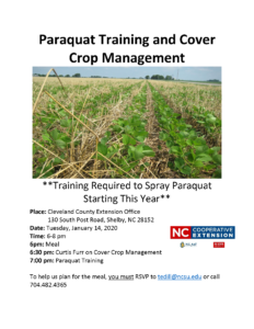 Cover photo for Paraquat Training and Cover Crop Management