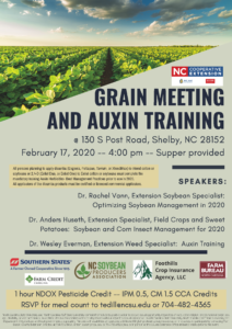 Cover photo for Grain Meeting and Auxin Training