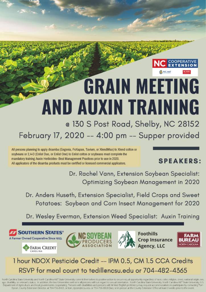 Grain and Auxin Training flyer