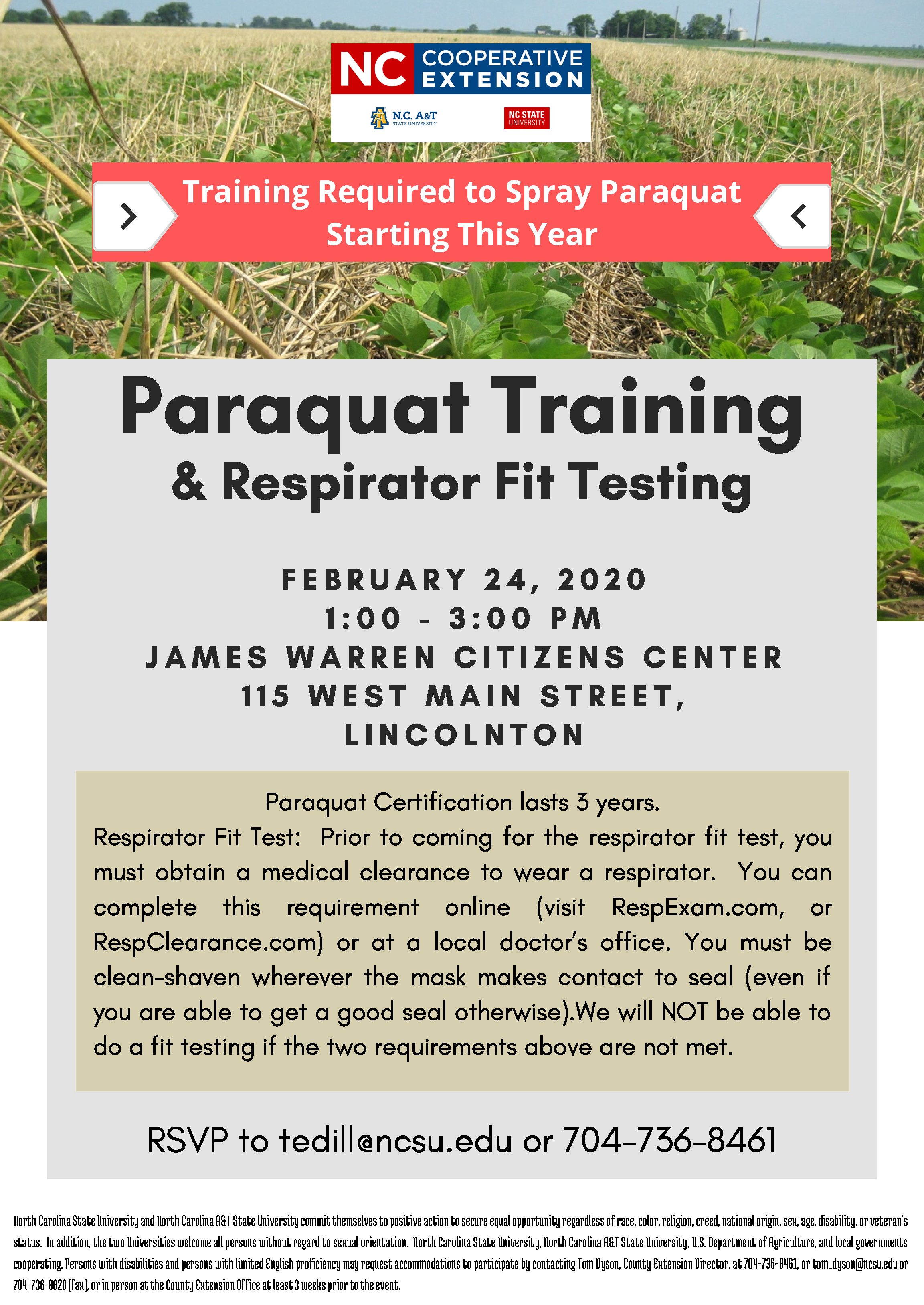 Training and Testing flyer