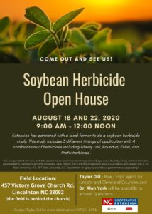 Cover photo for Soybean Herbicide Open House